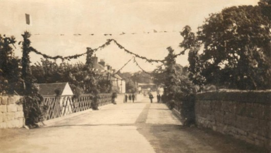 Ferbane Eucharistic Conference 1932. Photo of the Bridge decorated for the Eucharistic Conference held in Ireland in 1932.