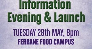 You Are invited to the  Launch of Ferbane Community Action Plan for Ferbane  and its environs on Tuesday 28th May @ 8pm in Ferbane Food Campus.             ALL ARE WELCOME.